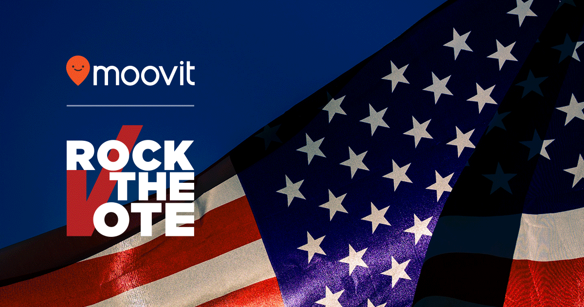 Rock the Vote and Moovit Parnter for 2018 midterm elections
