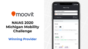 Moovit Announced As NAIAS 2020 Michigan Mobility Challenge Provider