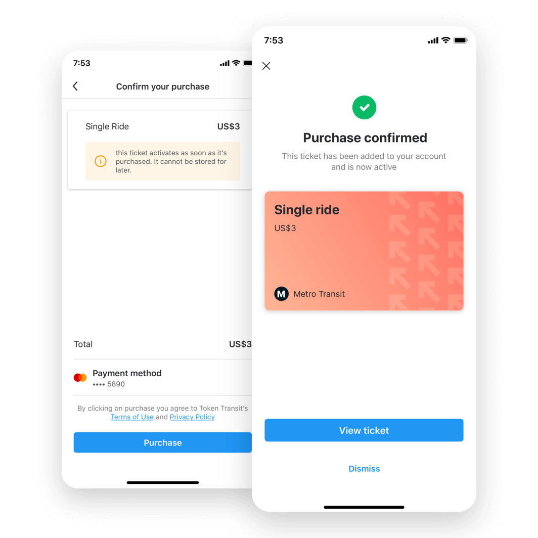 moovit in app payments screenshot