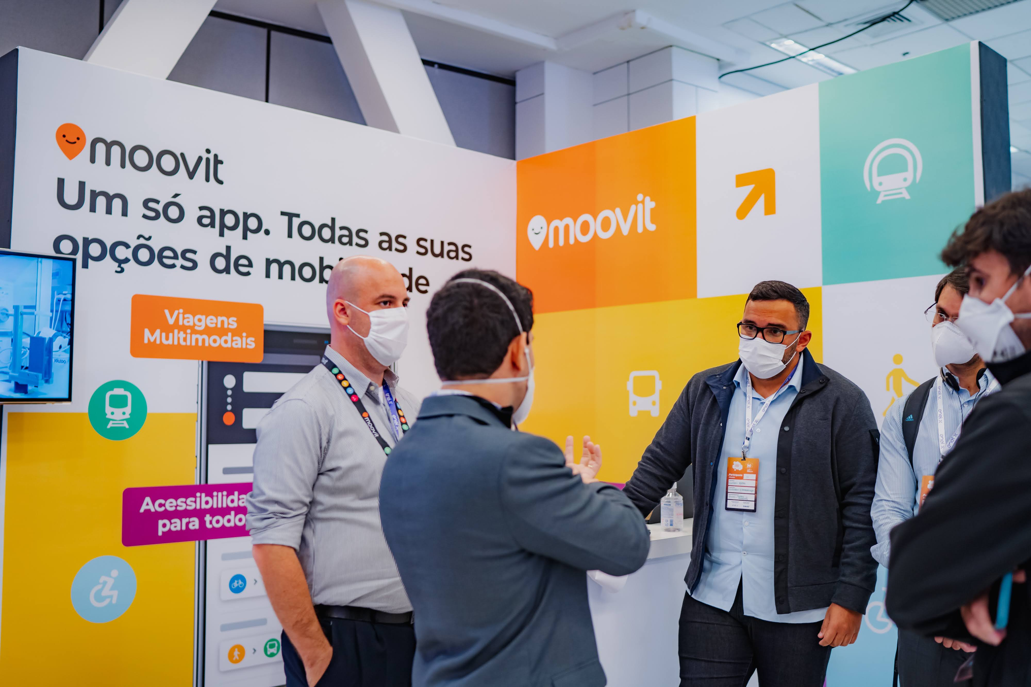 Stand no Moovit no Connected Smart Cities